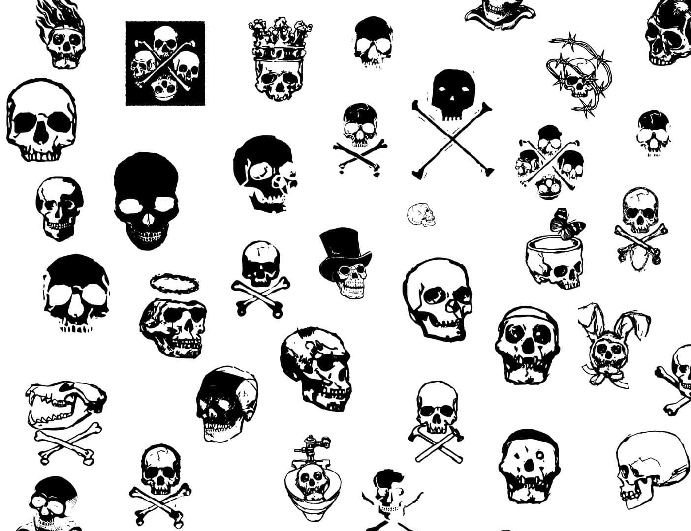 骷髅头图案、涂鸦头颅PS笔刷下载 骷髅头笔刷 头颅笔刷  %e6%b6%82%e9%b8%a6%e7%ac%94%e5%88%b7 characters brushes