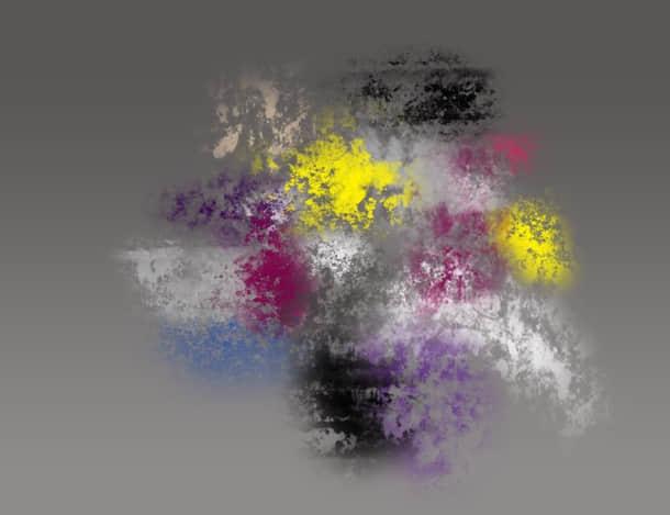 分散、粉末状油漆纹理PS笔刷免费下载
