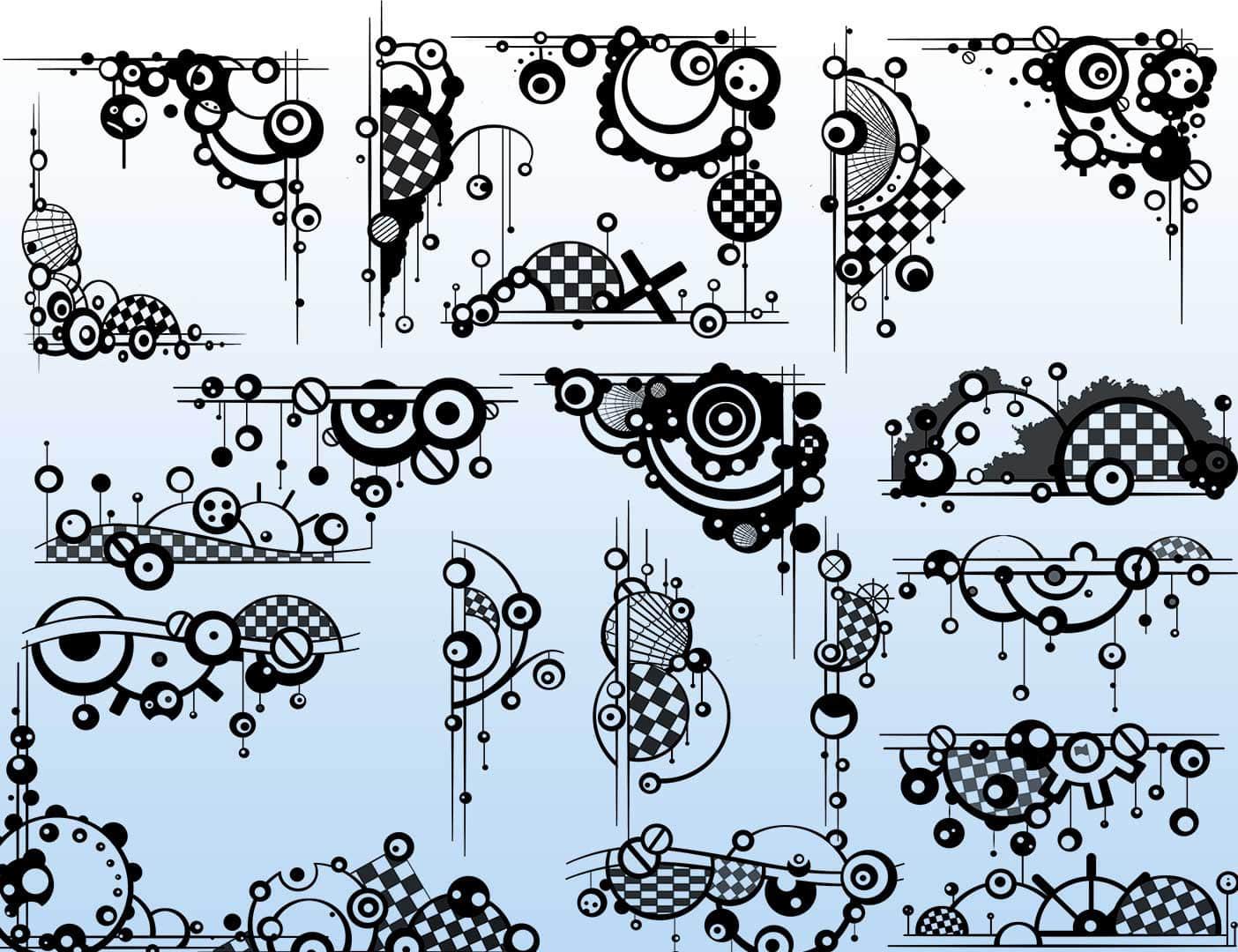 30个非主流时尚艺术边框、潮流边界PS笔刷下载 非主流边框笔刷 边框笔刷 潮流笔刷 时尚边界笔刷  adornment brushes