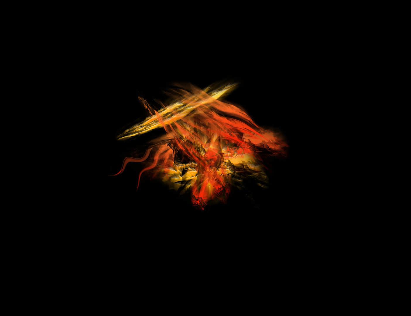抽象火焰燃烧光影PS笔刷下载