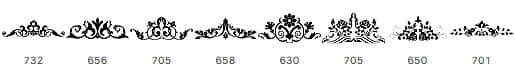 漂亮的植物花纹、纹饰图案、皇冠花纹PS笔刷下载