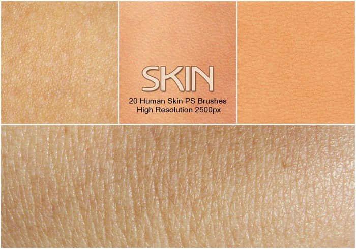 20种皮肤纹理、人体皮肤Photoshop材质笔刷