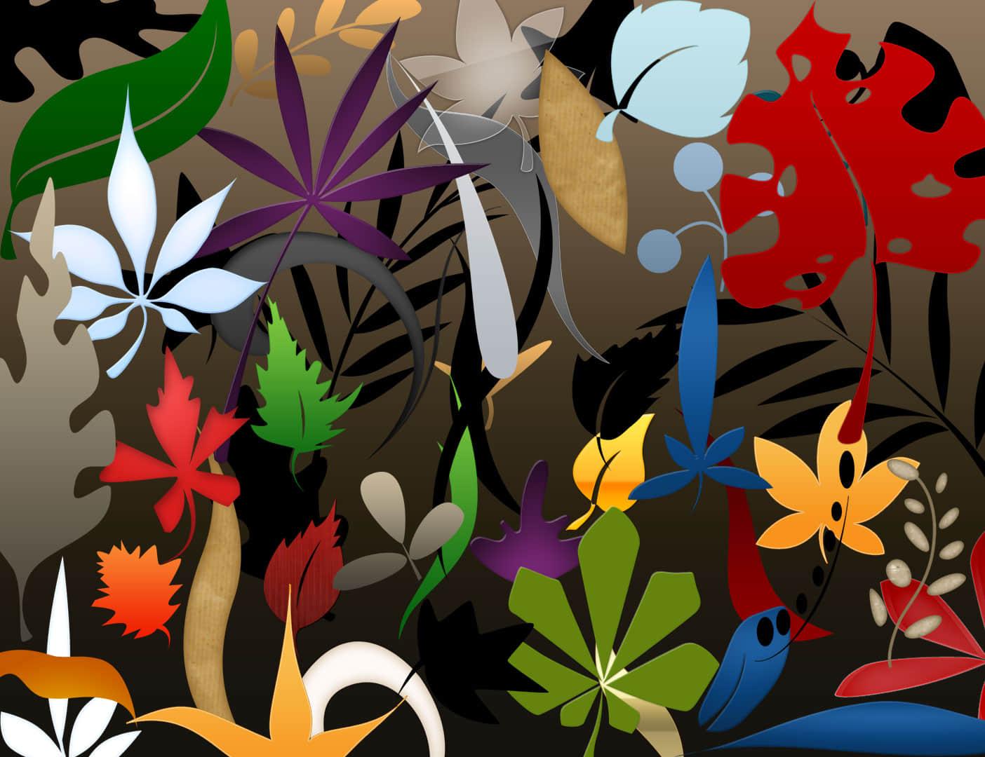 植物花纹、手绘树叶图案Photoshop笔刷下载 植物花纹笔刷 叶子笔刷  flowers brushes
