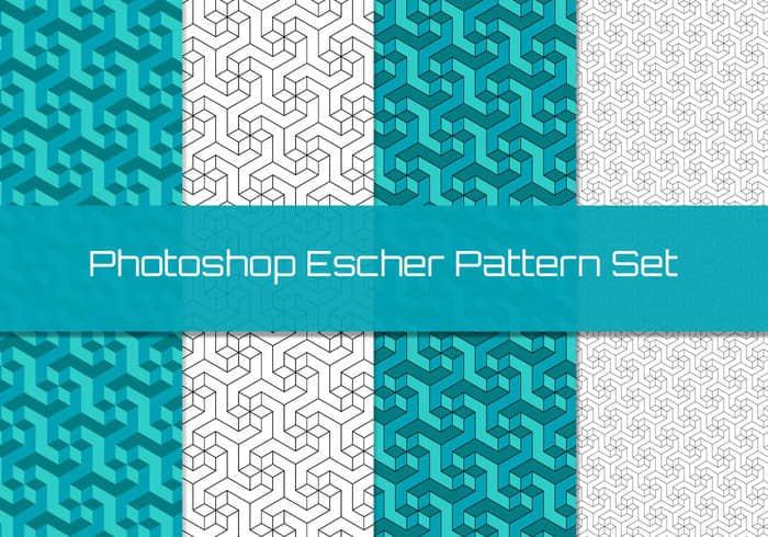 埃舍尔几何图形Photoshop填充图案底纹素材 Patterns 下载