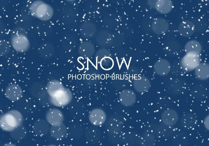 漫天雪花、下雪Photoshop飘雪笔刷 雪花笔刷 天气笔刷 下雪笔刷  background brushes
