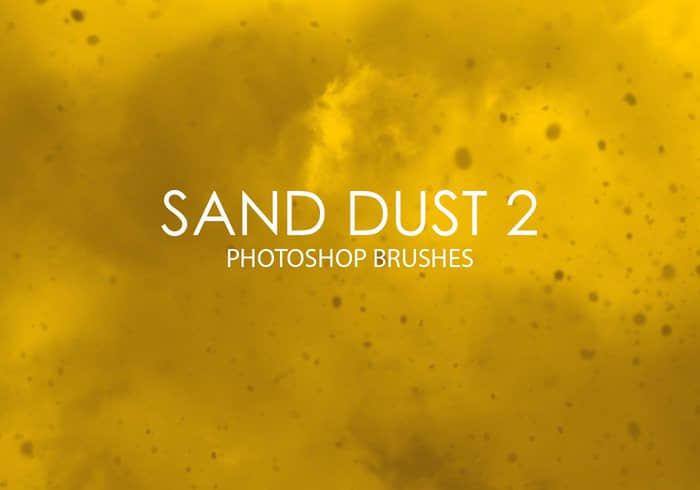 15种砂尘效果、扬尘、粉尘、灰尘PS笔刷下载