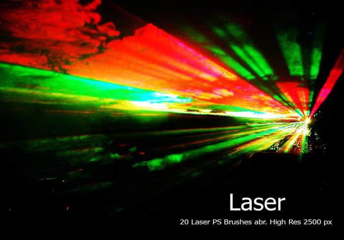 20种激光、镭射灯光舞台效果Photoshop光线笔刷 镭射笔刷 灯光笔刷 激光笔刷  light brushes