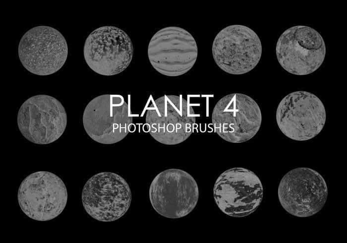 20种高清星球、行星、恒星效果Photoshop笔刷素材