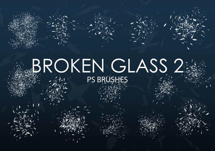 15个高质量玻璃碎片、玻璃渣子、破碎PS笔刷下载 碎片笔刷 破碎笔刷 玻璃碎片笔刷 渣子笔刷  other brushes