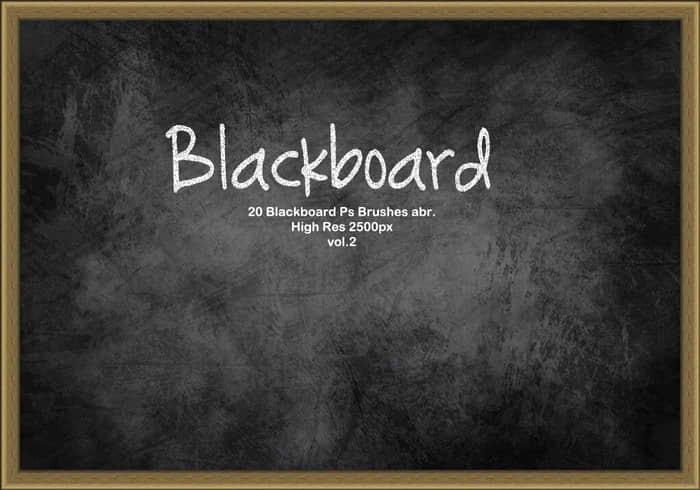 20种黑板纹理图形Photoshop笔刷下载 黑板笔刷  background brushes