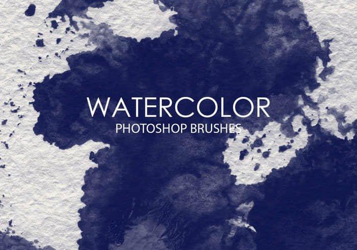 15个高质量的水彩效果PS笔刷