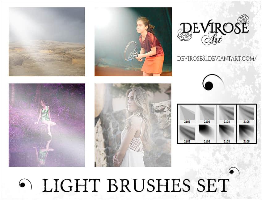 阳光、光线照射效果Photoshop光照笔刷 阳光笔刷 光线笔刷  light brushes
