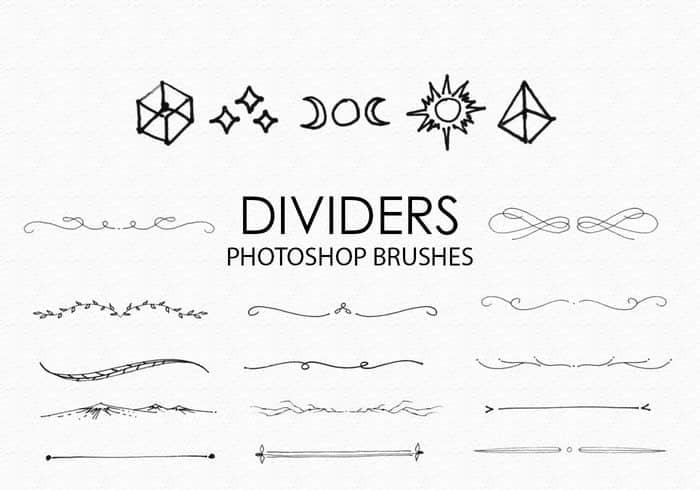 手绘分割线、分隔符Photoshop笔刷