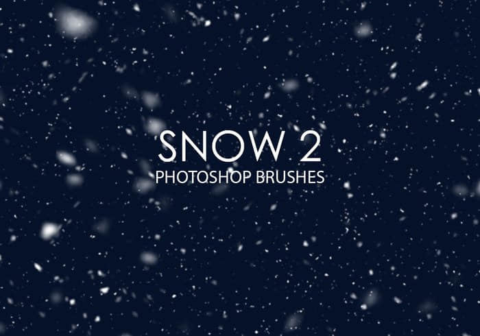 漫天雪花、下雪Photoshop飘雪笔刷 #.2