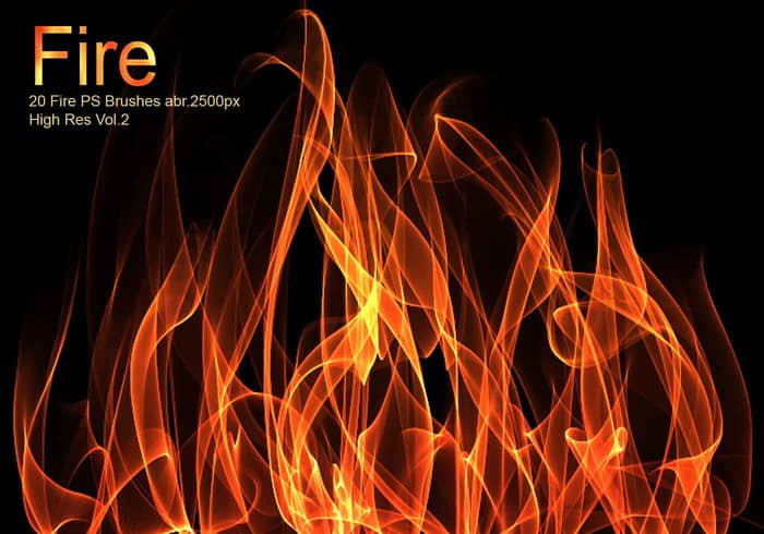 20种高分辨率燃烧火焰、火光特效PS素材笔刷免费下载 燃烧笔刷 火苗笔刷 火光笔刷  flame brushes