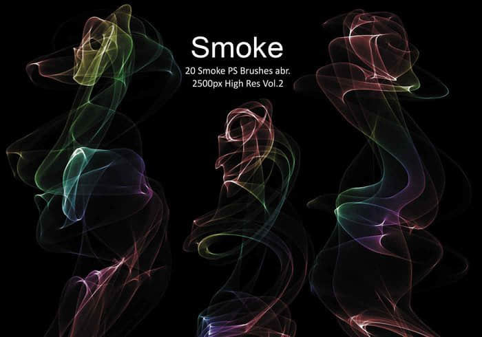 20种烟雾袅袅、香烟烟雾效果PS笔刷下载