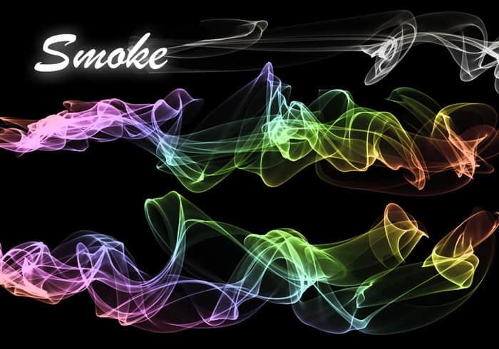 20种流烟、香烟烟雾效果、梦幻光影Photoshop笔刷素材下载 香烟效果笔刷 烟雾笔刷  flame brushes
