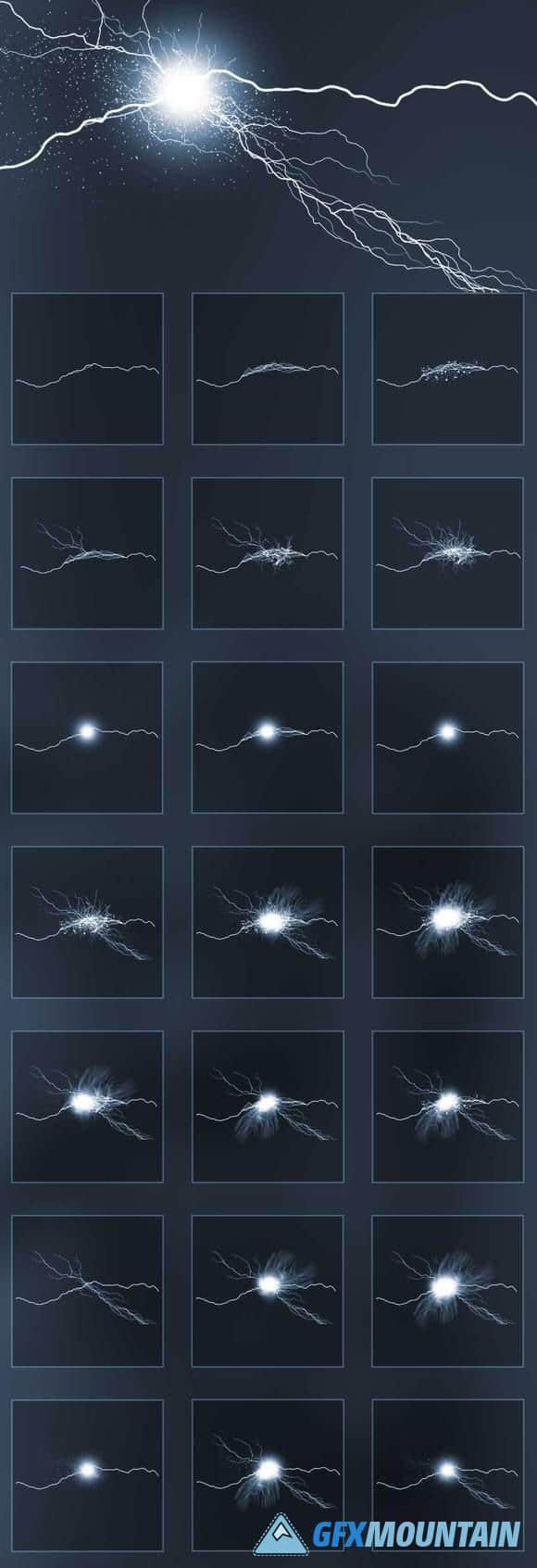 94种超级闪电特效Photoshop笔刷素材下载