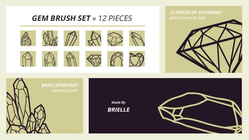 钻石、水晶矿石造型、线框图案PS笔刷下载 钻石笔刷 线框笔刷 矿石笔刷 水晶笔刷  %e5%8d%a1%e9%80%9a%e7%ac%94%e5%88%b7