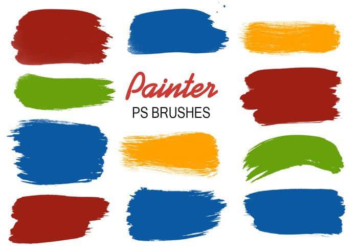 20种油漆刷子涂痕笔迹PS笔刷下载 笔迹笔刷 刷子笔刷  %e6%b2%b9%e6%bc%86%e7%ac%94%e5%88%b7