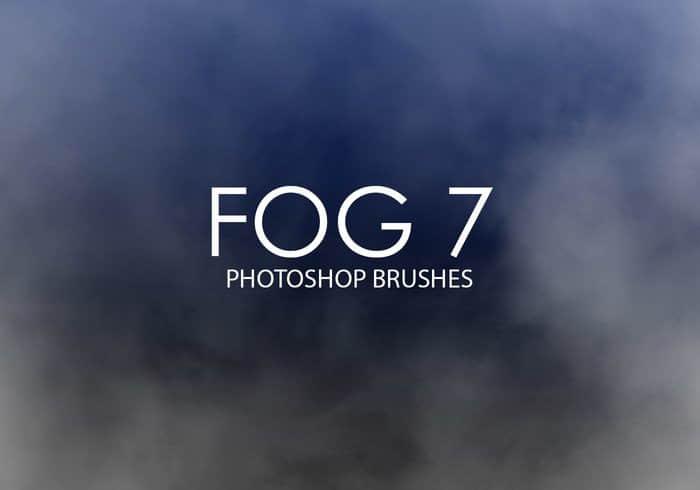 15个高品质雾气、大雾、浓雾、水蒸气PS笔刷套装下载  light brushes