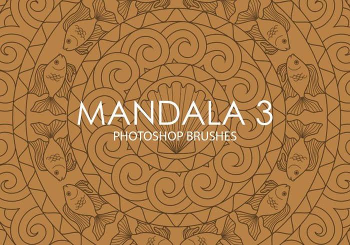 部落宗教纹饰图案Photoshop曼荼罗印记笔刷 曼陀罗笔刷 曼荼罗笔刷 宗教花纹笔刷 壁画笔刷 Mandala花纹笔刷  flowers brushes