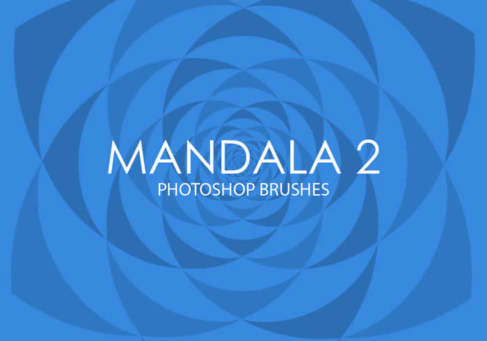 万花筒式花纹背景图案Photoshop笔刷Mandala系列