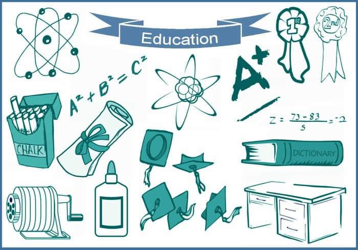 20种教育、教学、学校、学习相关元素的图形ps笔刷下载 教育元素笔刷 学校元素笔刷 学习元素笔刷  %e5%8d%a1%e9%80%9a%e7%ac%94%e5%88%b7