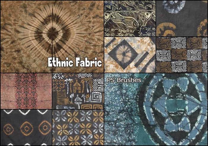 20种民族简单编织物纹理PS笔刷下载