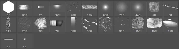 Photoshop基础类绘画画笔素材下载 绘画笔刷 基础笔刷  photoshop brush