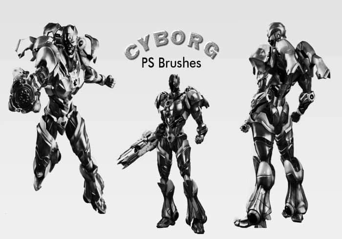 20个机器人造型PS笔刷下载 机器人笔刷 变形金刚笔刷  other brushes