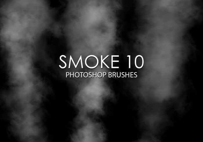 高品质烟雾效果、烟囱烟雾、水蒸气特效Photoshop笔刷下载