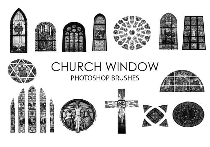 基督教堂彩色玻璃、窗户Photoshop笔刷素材下载 窗户笔刷 教堂笔刷 教会笔刷 基督教笔刷  %e5%bb%ba%e7%ad%91%e7%ac%94%e5%88%b7