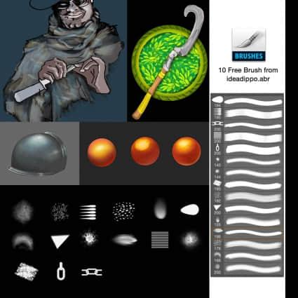 10种photoshop cc专用的混合刷子素材