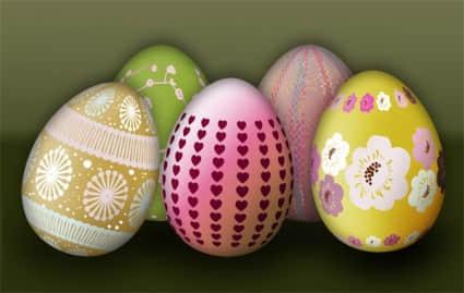 复活节彩蛋Photoshop笔刷素材