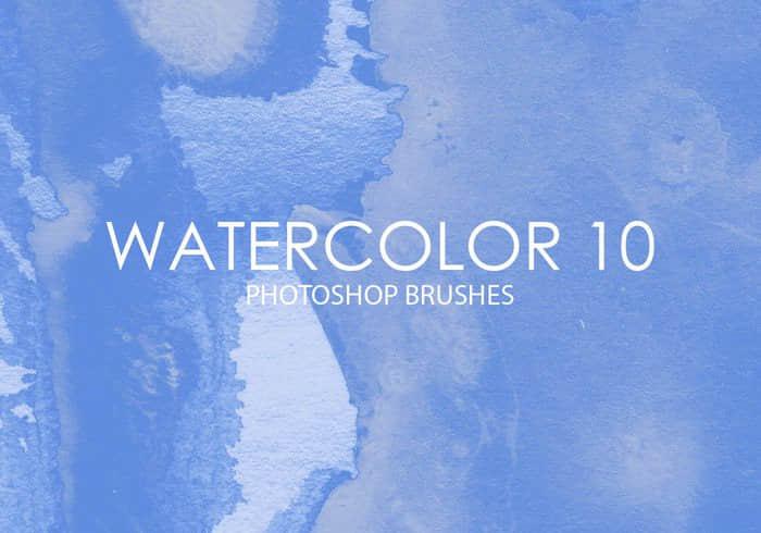 包含15个高质量的水彩纹理效果的Photoshop画笔笔刷 高质量笔刷 高品质笔刷 水彩笔刷 水墨笔刷  photoshop brush