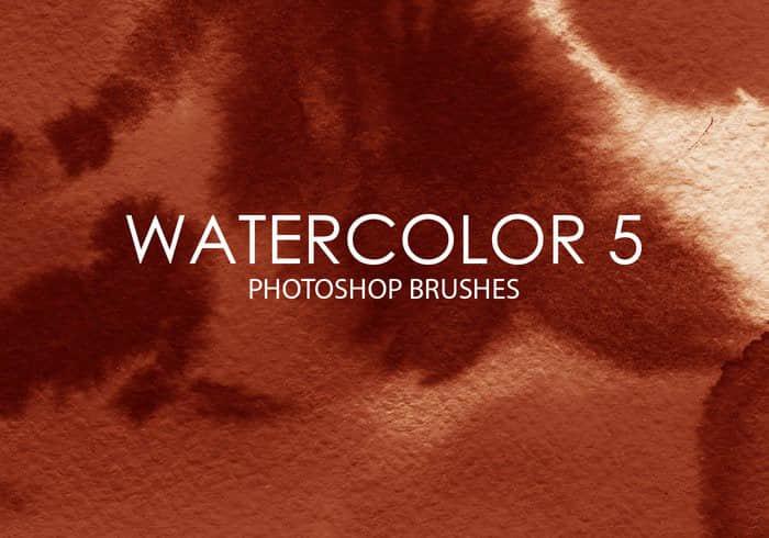 15种水彩效果、水墨模式Photoshop笔刷素材