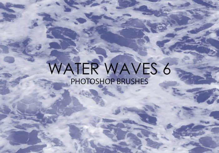 15个高质量的水面波纹、波浪纹理、海水表面Photoshop笔刷