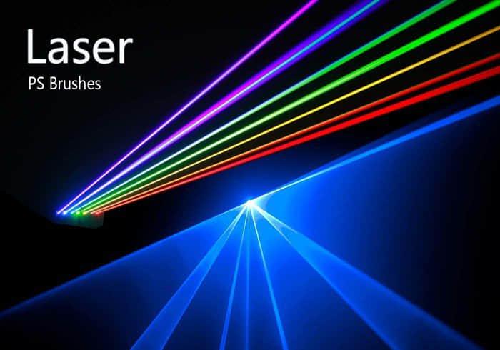 20种激光射线、光线效果Photoshop光影笔刷