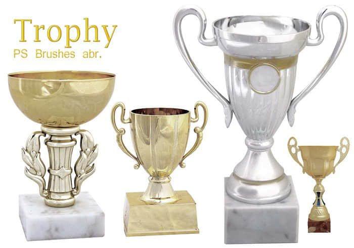 冠军奖杯、金杯Photoshop胜利笔刷