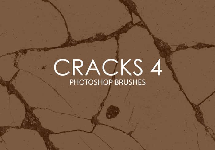 15种墙体、路面裂缝、开裂效果Photoshop纹理笔刷