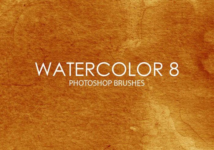 免费15个水彩纹理素材Photoshop笔刷 水彩笔刷  photoshop brush