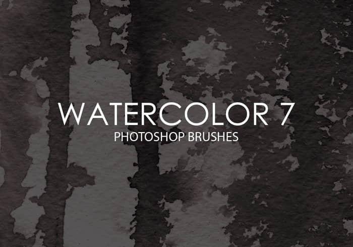 15种高级水彩纹理画笔PS素材下载 水彩笔刷  photoshop brush