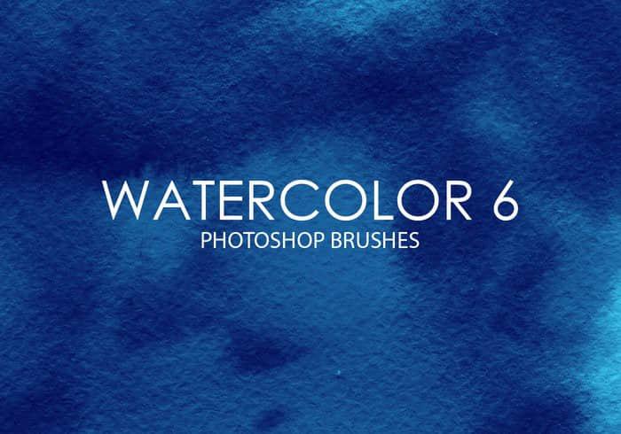 高质量的水彩纹理画笔Photoshop笔刷素材下载