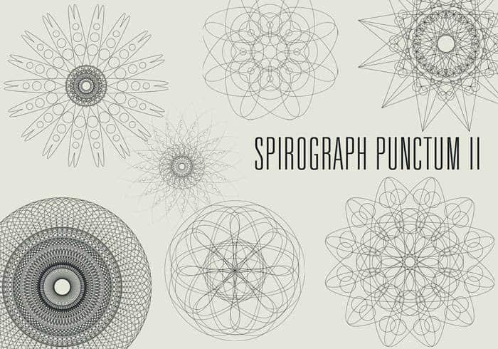 奇妙手绘线条花纹、科学图形photoshop自定义形状素材 .csh 下载