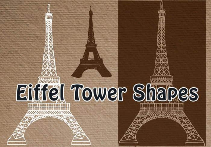 法国埃菲尔铁塔形状photoshop自定义形状素材 .csh 下载