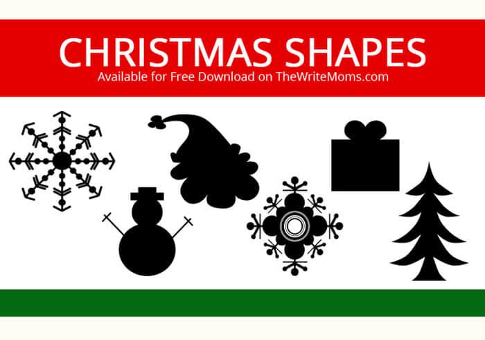 圣诞节图形元素photoshop自定义形状素材 .csh 下载