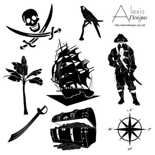 海盗元素图形photoshop自定义形状素材