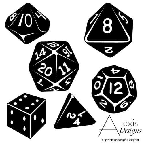 有意思的骰子形状PS自定义形状素材 .csh 下载