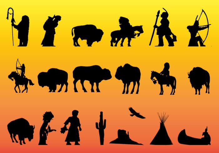 24种原始土著元素Photoshop自定义形状素材 .csh 下载
